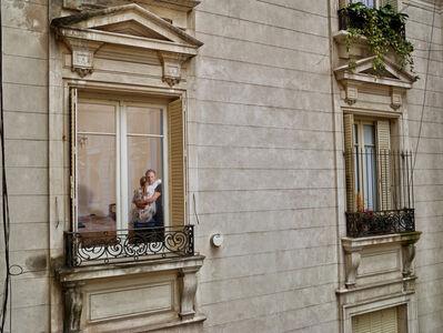 Gail Albert Halaban, 'Hug, Palacio de Los Patos Out My Window', 2016
