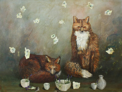 Anne Siems, 'Foxes and Cups'
