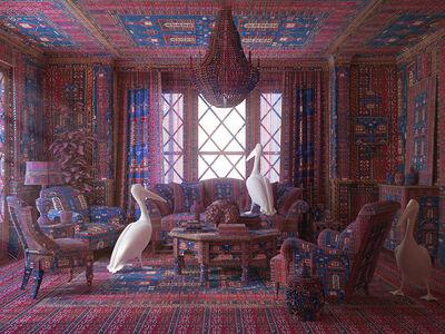 Farid Rasulov, 'Pelicans in the lounge', 2014