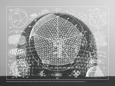 R. Buckminster Fuller, 'Building Construction - Geodesic Dome, From Inventions Portfolio, Edition 44 of 60', 1981