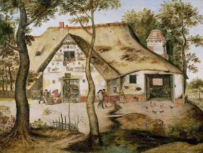 Pieter Bruegel the Younger, 'The St. Michel Inn', 1619