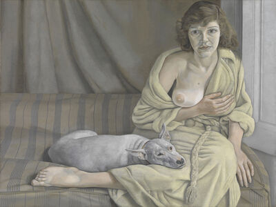 Lucian Freud, 'Girl with a White Dog', 1950-1951