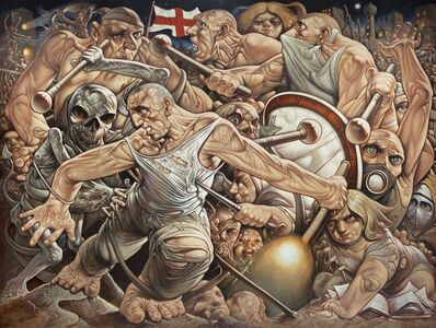 Peter Howson, 'The Banner of St George', 2015