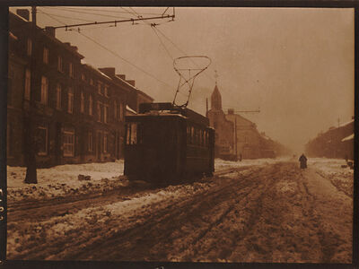 Léonard Misonne, 'Tram on a Snowy Day', 1920s