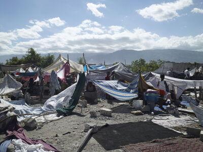 Luc Delahaye, 'Camp Texaco, Port-au-Prince', 2010