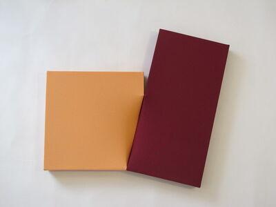 Nobuko Watanabe, 'orange and dark red', 2016