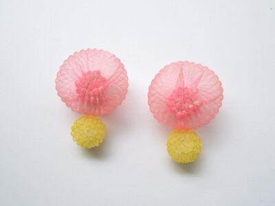 Mariko Kusumoto, 'Pink & Yellow flower', 2020
