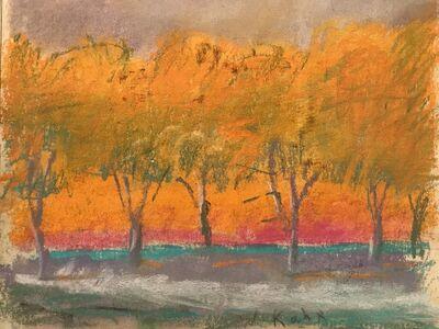 Wolf Kahn, 'Grey Ground, Grey Sky', 1994
