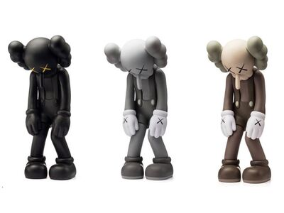 KAWS, 'Set of 3 Small Lie (Black, Brown & Grey)', 2017