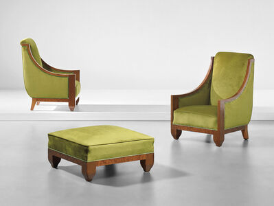 André Sornay, 'Pair of armchairs and ottoman', 1920s