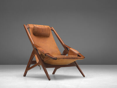W.D. Andersag, 'Lounge Chair in Patinated Cognac Leather', 1960s