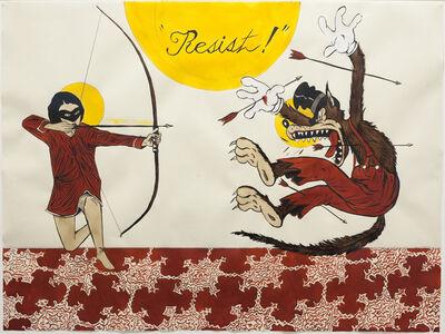 Marcel Dzama, 'Resist! #2', 2017