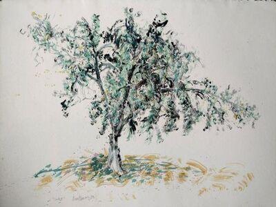 "Brad Davis, 'Rare 1 of a kind Acrylic painting or Monotype ""Oak II""', 1980-1989"