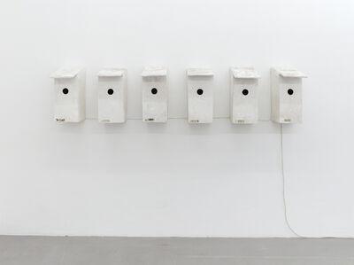 Inge Mahn, 'Vogelkästen mit Türklingeln (Bird Boxes with doorbells)', 1981