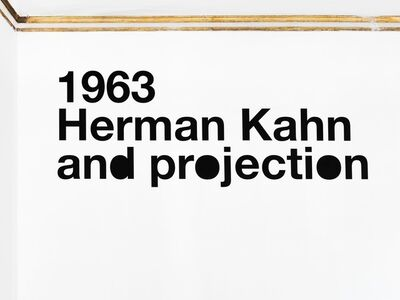 Liam Gillick, '1963 Herman Kahn and projection', 2012