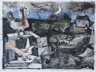 Michael Rothenstein, 'Chickens and Cat', ca. 1949