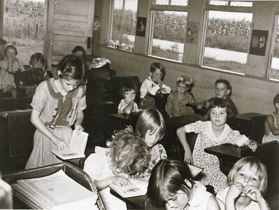 Russell Lee, 'White School Room near S.E. Missouri Farms', 1938/1938c