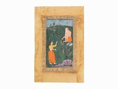 India, Sub-Imperial Mughal, 'Nymph Tambha cursed by Vishvamitra', 17th century