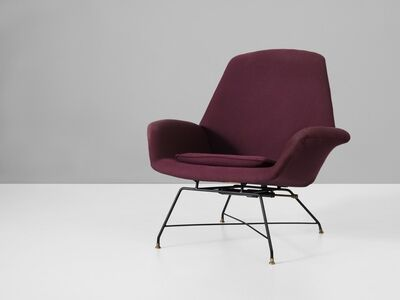 Augusto Bozzi, 'Reupholstered Lounge Chair', ca. 1960