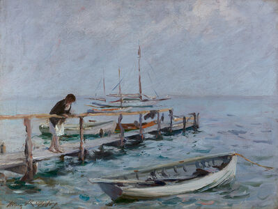 Irving Ramsey Wiles, 'On the Dock'