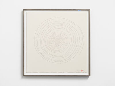 Tatsuo Miyajima 宮島 達男, 'Hand-drawn Innumerable Counts 20180305', 2018