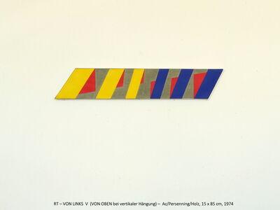 Rainer Tappeser, 'VON LINKS V  / VON OBEN wenn vertikal', 1974