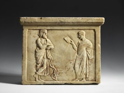 Unknown Greek, 'A Votive Relief with Asklepios'