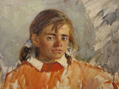 Aleksandr Nikiforovich Chervonenko, 'Girl', 1963