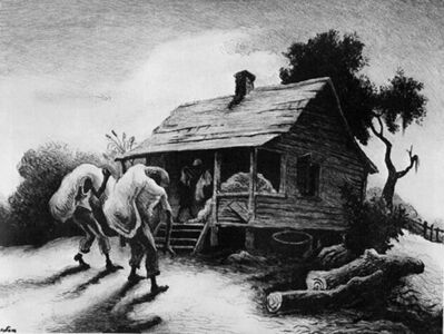Thomas Hart Benton, 'Back from the Fields', 1945