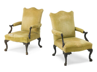 Style of George III, 'Pair Of George III Style Mahogany Armchairs', early 20th c.
