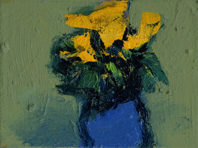 Jennifer Hornyak, 'Mustard Yellow with Blue', 2019