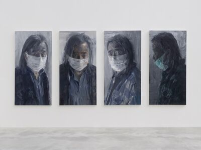 Yan Pei-Ming, 'Self-portrait with Mask', 2020
