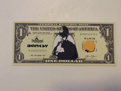 "Banksy, 'BANKSY DISMALAND US DOLLAR ""RUDE COPPER"", DISMAL DOLLAR, COMPLETE WITH COA', 2015"