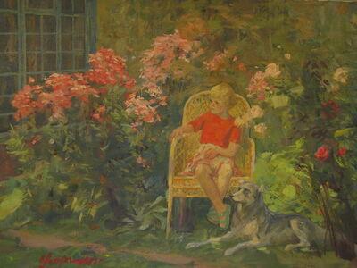 Vladimir Semenovich Zakharkin, 'Among the flowers', 1997