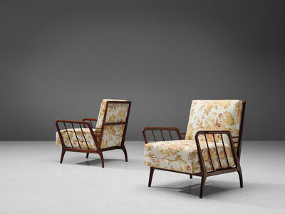 Giuseppe Scapinelli, 'Pair of Armchairs in Original Reupholstery', 1950s