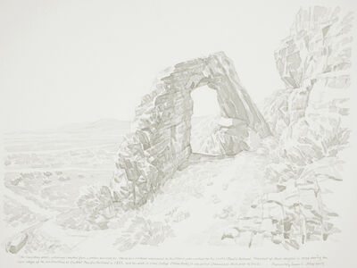 Zhi Lin, 'View of Promontory Summit from China Arch, Utah', 2009