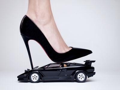 Tyler Shields, 'Lamborghini High Heel', 2015