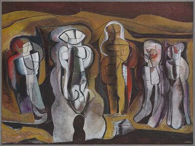 Cecil Skotnes, ''Figures in a metaphysical landscape''