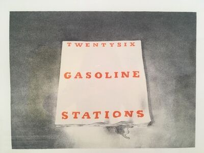 Ed Ruscha, 'Twenty Six Gasoline Stations (from the Book Covers series)', 1970