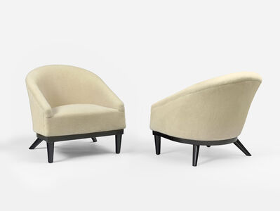 Jean Royère, 'Pair of Baquet armchairs', ca. 1950