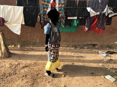 Saidou Dicko, 'La lessive (Tête Carte d'Afrique)', 2019