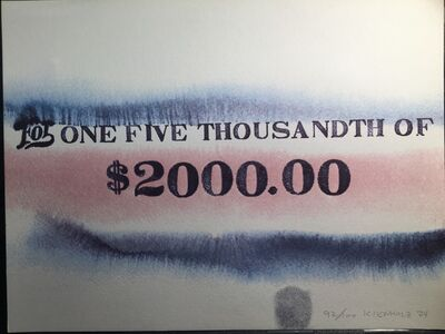 Edward Kienholz, 'For One Thousandth of $2000.00', 1974