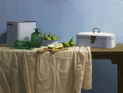 KLAAS HART, 'Enamelware and Pears', 2016