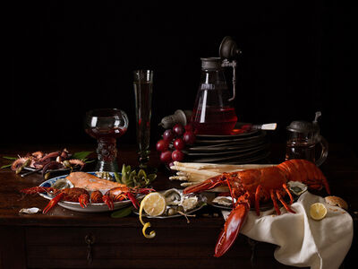 Paulette Tavormina, 'Still Life with Lobster and Crayfish', 2019