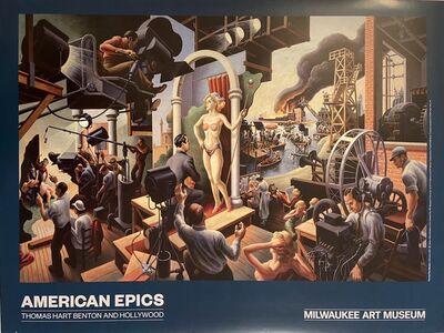 "Thomas Hart Benton, '""American Epics, Thomas Hart Benton and Hollywood"" Rare Museum TWO SIDED poster ', 2016"