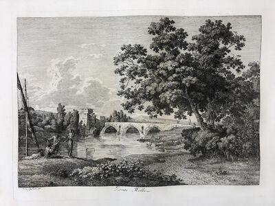 Jacob Wilhelm Mechau, 'Ponte Molle in Rome', 1792