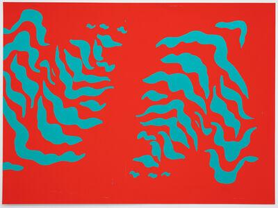 Sarah Crowner, 'Stripe Print (test) 2', 2020