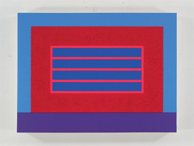 Peter Halley, 'Red Horizontal Prison', 2012