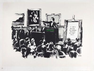 Banksy, 'Morons (White)', 2007