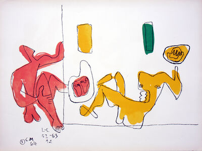 Le Corbusier, 'Touching Their Feet', 1964